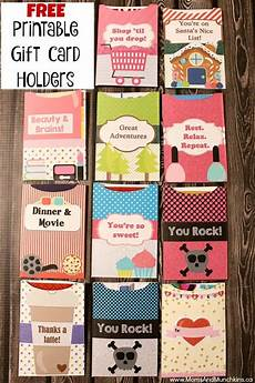 Free Printable Gift Cards Free Printable Gift Card Holders Amp Munchkins