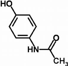 Tylenol Structure Chemical Structure Of Acetaminophen Paracetamol