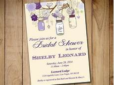 rustic bridal shower invitation template mason jar