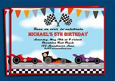 Free Printable Race Car Birthday Invitations Race Cars Invitation Printable Or Printed With Free Shipping