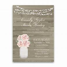 Rustic Country Wedding Invitations Rustic Mason Jar Barn Wood Country Wedding Invitations