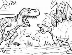 Dinasor Coloring 35 Free Printable Dinosaur Coloring Pages Scribblefun