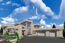 luxury modern house plan with upstairs master retreat