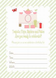 Online Party Invitations Free Pretty Printables For You Tea Party Birthday Invitation