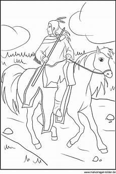 Ausmalbilder Indianer Mit Pferd Indianer Mandala Malvorlagen Malvor