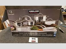 Kirkland Signature? 13 piece Tri Ply Clad Stainless Steel
