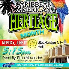 Caribbean American Heritage Month Because We Care Atlanta South Recognition Of Caribbean