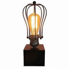 Light Bulb Shades Caged Table Vintage Light Bulb Lamp With Glass Lamp Shade