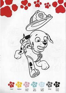learning is nickelodeon color by number paw patrol