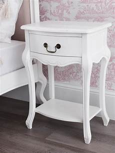 juliette shabby chic antique white 1 drawer bedside table