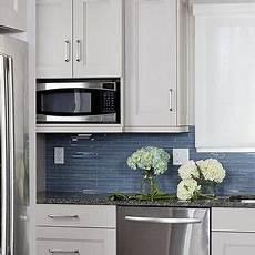 kitchen backsplash blue linear blue glass tile backsplash design ideas