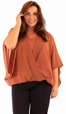 plus size sleeve tops new womens plus size wrap front kimono batwing sleeve