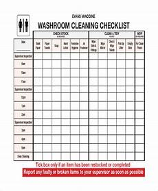 Bathroom Cleaning Checklist Template 41 Checklist Templates Free Amp Premium Templates