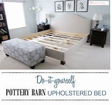 diy pottery barn upholstered bed upholstered beds