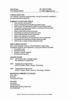 Cv Template Nz Cv Formats And Examples
