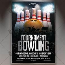 Bowling Flyer Bowling Tournament Premium Flyer Psd Template Psdmarket