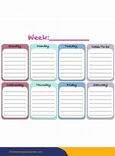 free weekly calendar template 2020 free printable weekly calendar 2019 2020 template pdf