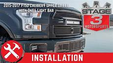 2015 F150 Light Bar Install 2015 2017 F150 Caliber9 Upper Light Bar Grille With Onx6