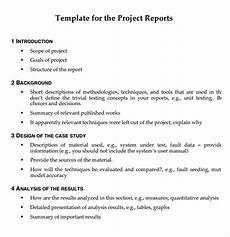Project Reports Format 10 Project Report Templates Download For Free Sample