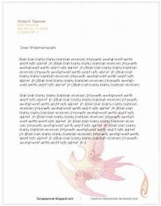 Mock Cover Letter Sonja Spencer Mock Cover Letter