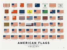 Flags Timeline Infographic American Flags 1767 Present Michael