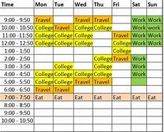 Make Your Own Class Schedule Study Timetable Template To Help You Study Better Hubpages