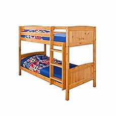 3ft 90cm christopher pine bunk bed in a caramel finish