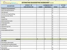 Estimating Sheet 6 Best Free Construction Estimate Templates