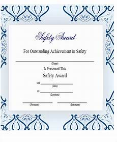 Safety Award Certificate Template 21 Award Certificates Samples Amp Templates Word Psd Ai