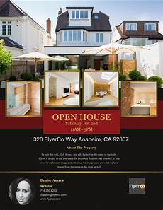 Real Estate Open House Flyers Design Winning Open House Flyers That Close Sales Real