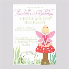 Fairy Party Invite Custom Fairy Birthday Invite Pixie Party Invitation