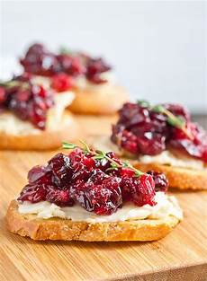 roasted balsamic cranberry brie crostini appetizer