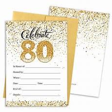 80th Birthday Invitation Amazon Com Distinctivs 80th Birthday Party Invitation