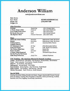 How To Create A Basic Resume Actor Resume Sample Presents How You Will Make Your