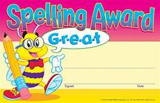 Child Award Certificate 30 Kids Spelling Award Children S Reward Recognition