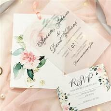 Pink Invitations Romantic Pink Floral Layered Wedding Invitations Swpi075