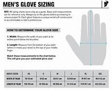 Motorcycle Glove Size Chart Uk Motorcycle Glove Sizing Chart Allmoto Online