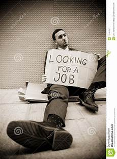 Looking For A Sitter Jobless Man Stock Image Image Of Employment Falling