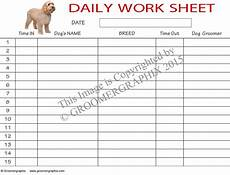Daily Worksheet For Employees Daily Worksheet Download Groomergraphix
