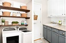 Room Makeover Budget Laundry Room Makeover With Diy Shiplap And Stained