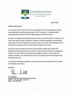 Athlete Letter Of Recommendation High School Sports John Nunes Photography