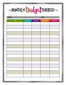 Budget Monthly Bills How To Organize Bills Super Bright Budget Tracker Makes