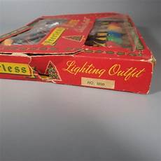 A String Of 15 Christmas Tree Lights Vintage Peerless Indoor Christmas Tree Lights 15 Bulb Set