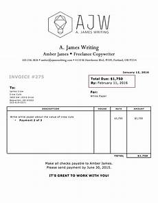 How To Write A Invoice For Freelance Work What A Freelance Invoice Looks Like