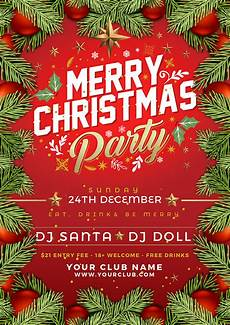 Christmas Flyer Templates Free Free Christmas Party Flyer Poster Design Template 2017