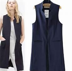 dr coats for adults sleeveless vest jacket open stitch sleeveless black