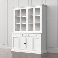 cameo 2 white glass door wall unit crate and barrel