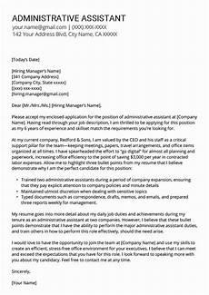 Executive Administrative Assistant Cover Letter Sample Administrative Assistant Resume Template Unique