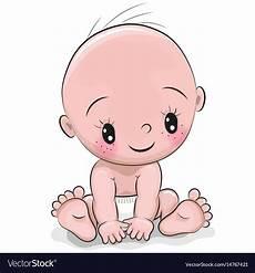 Baby Cartoons Free Cute Cartoon Baby Boy Royalty Free Vector Image