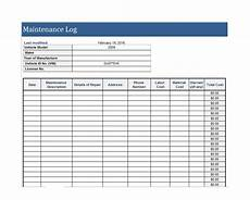 Maintenance Log Template Free 40 Equipment Maintenance Log Templates Template Archive